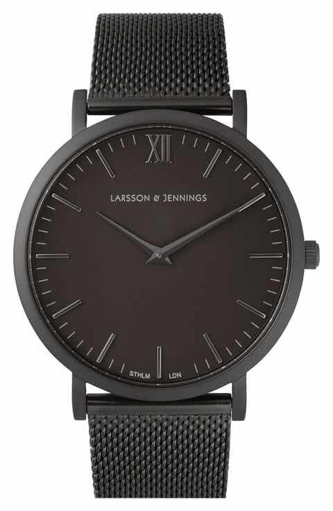 Larsson   Jennings Lugano Mesh Strap Watch, 40mm