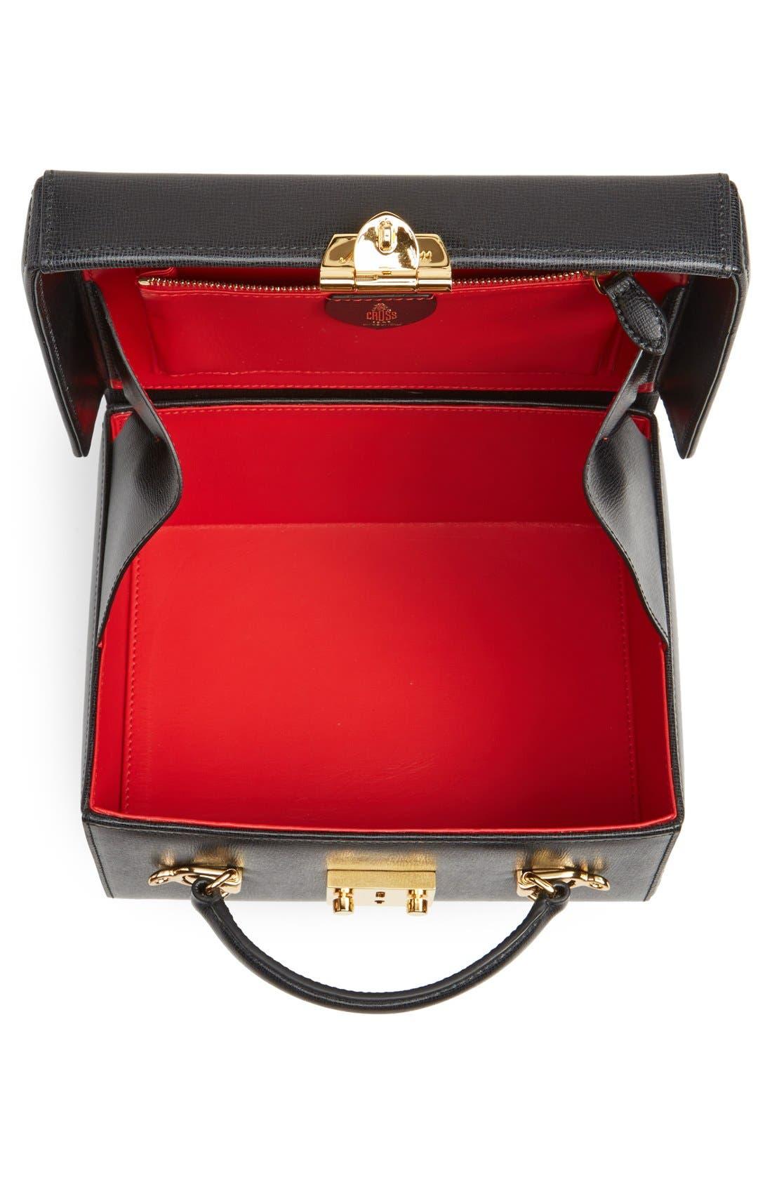 Alternate Image 4  - Mark Cross 'Grace - Large' Saffiano Calfskin Box Trunk