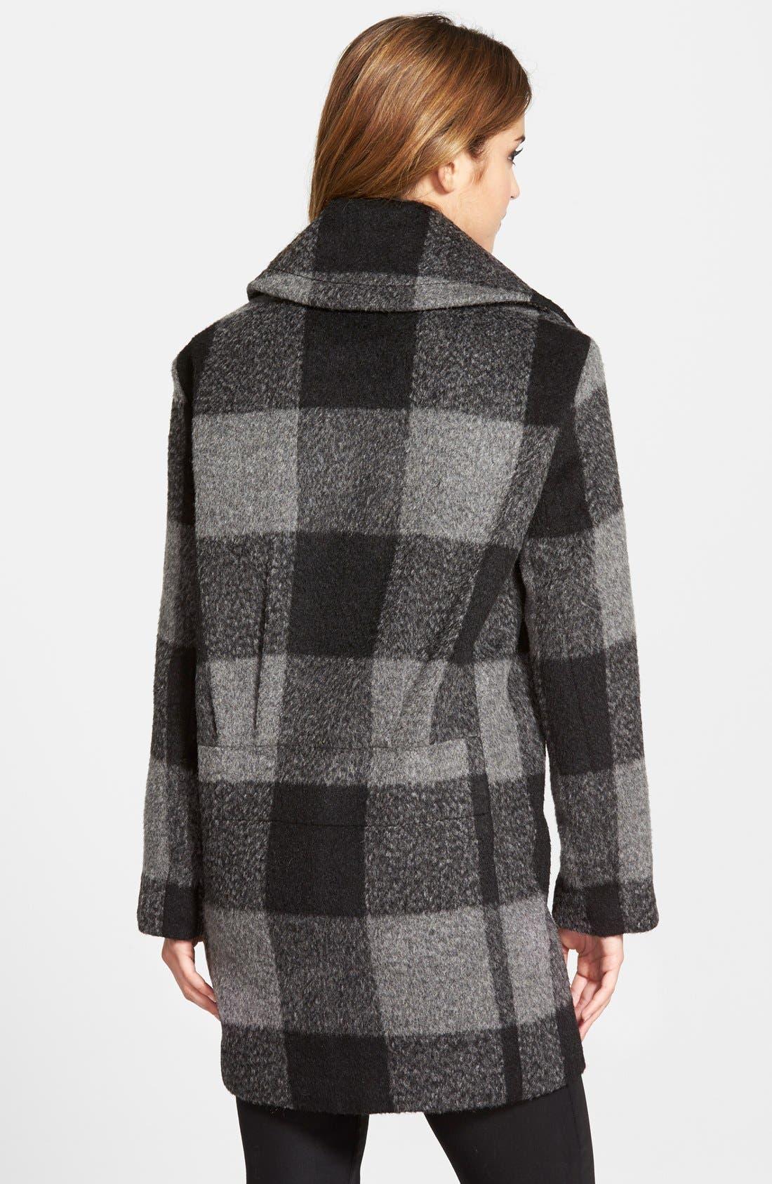 Alternate Image 2  - kensie Oversize Plaid Coat