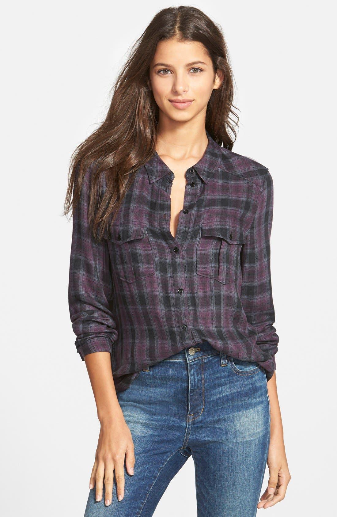 Alternate Image 1 Selected - Paige Denim 'Mya' Plaid Shirt