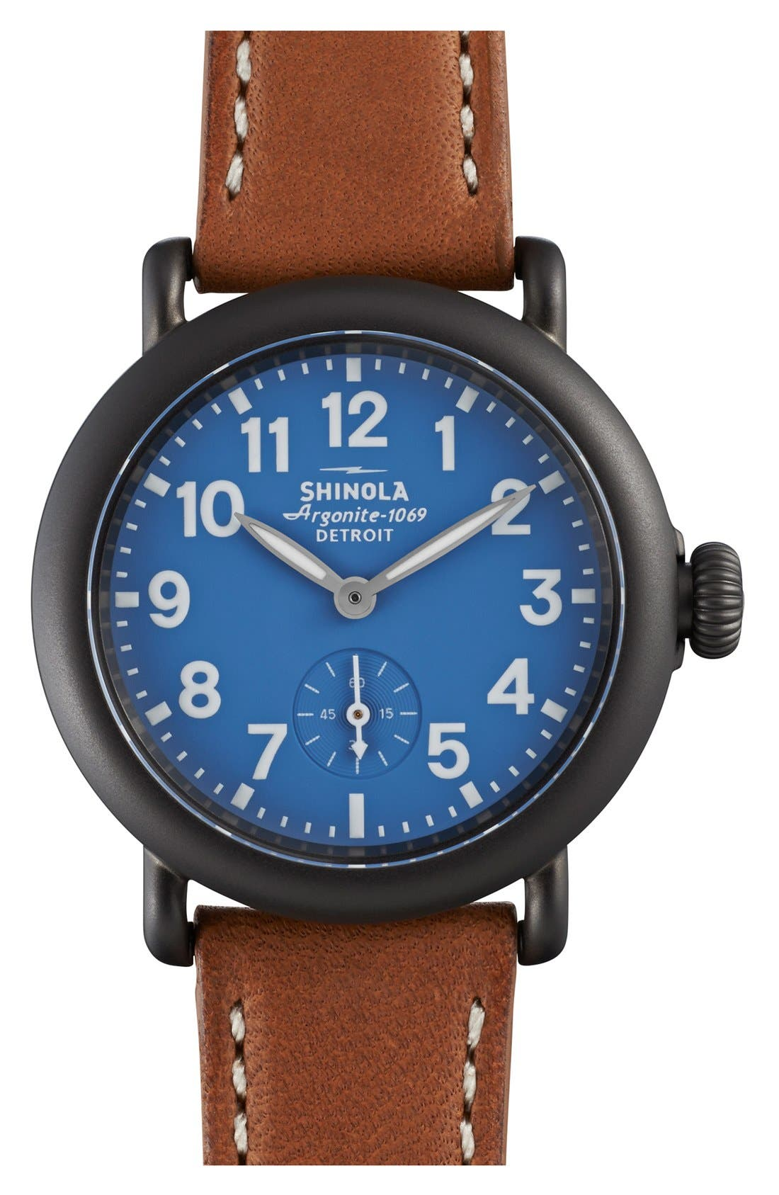 Alternate Image 1 Selected - Shinola 'The Runwell' Leather Strap Watch, 36mm