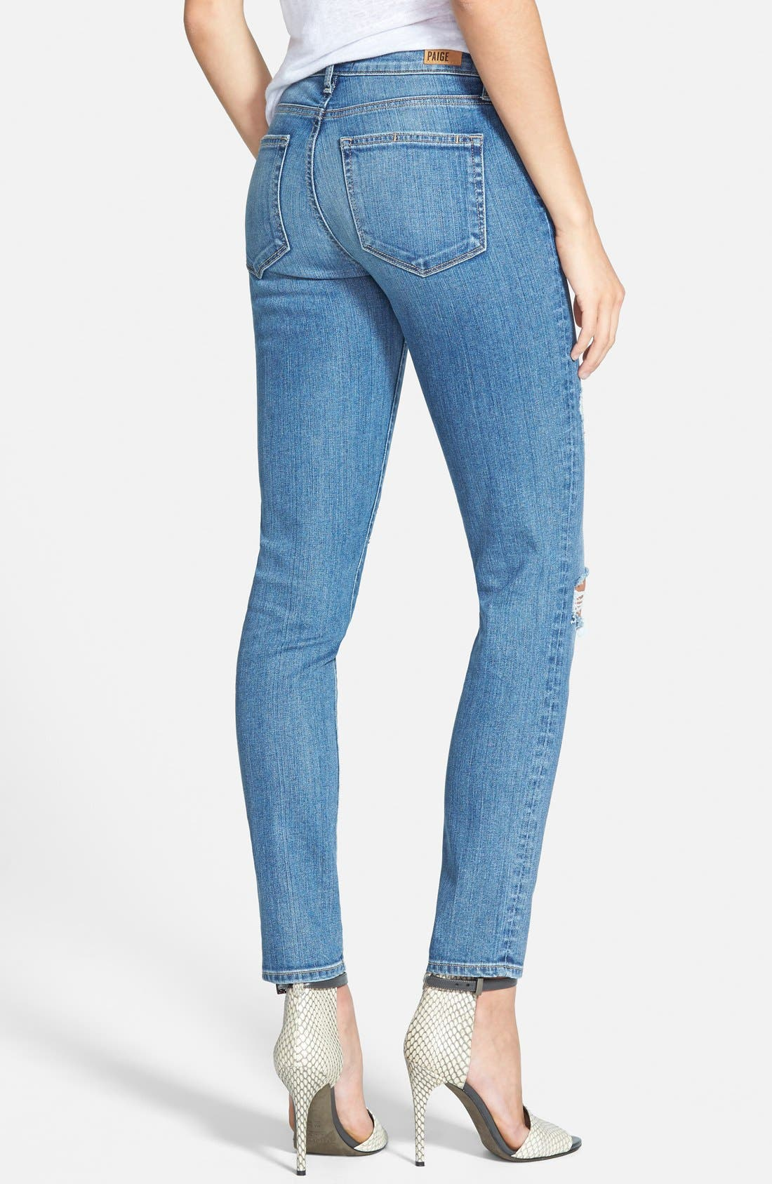 Alternate Image 2  - Paige Denim 'Skyline' Ankle Peg Skinny Jeans (Esme Destructed)