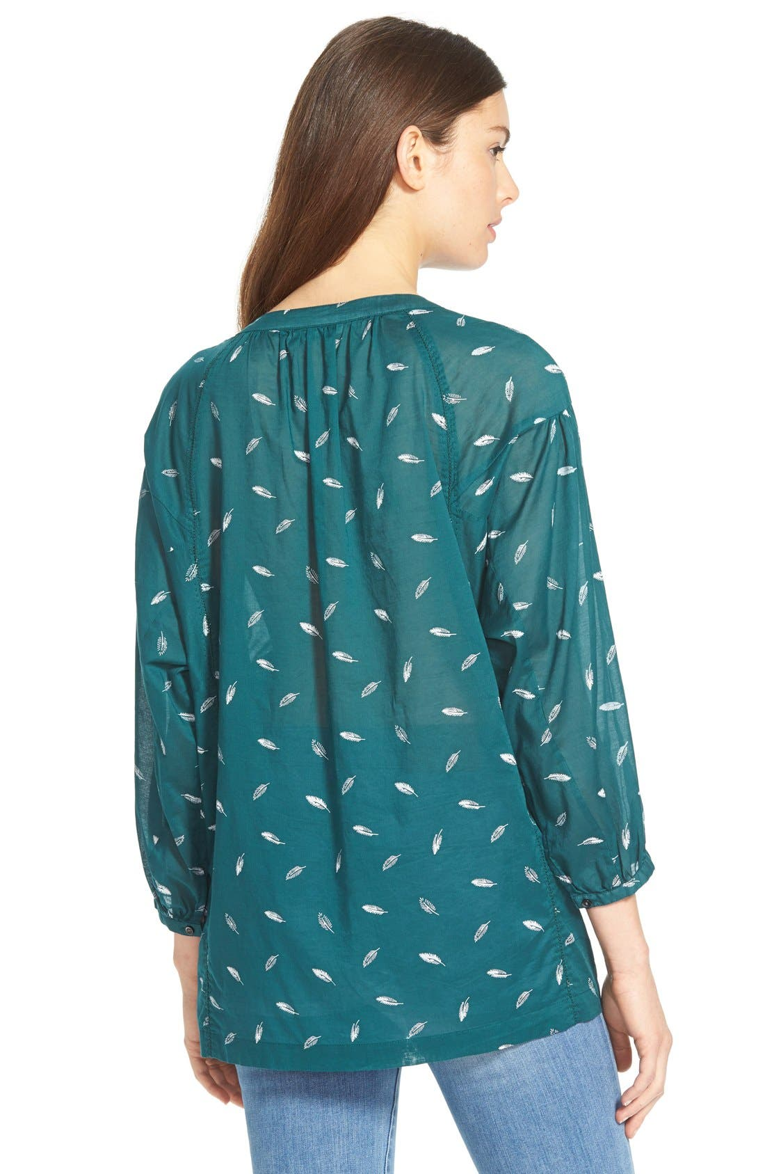Alternate Image 3  - Madewell 'Fall Feathers' Tie Neck Peasant Blouse
