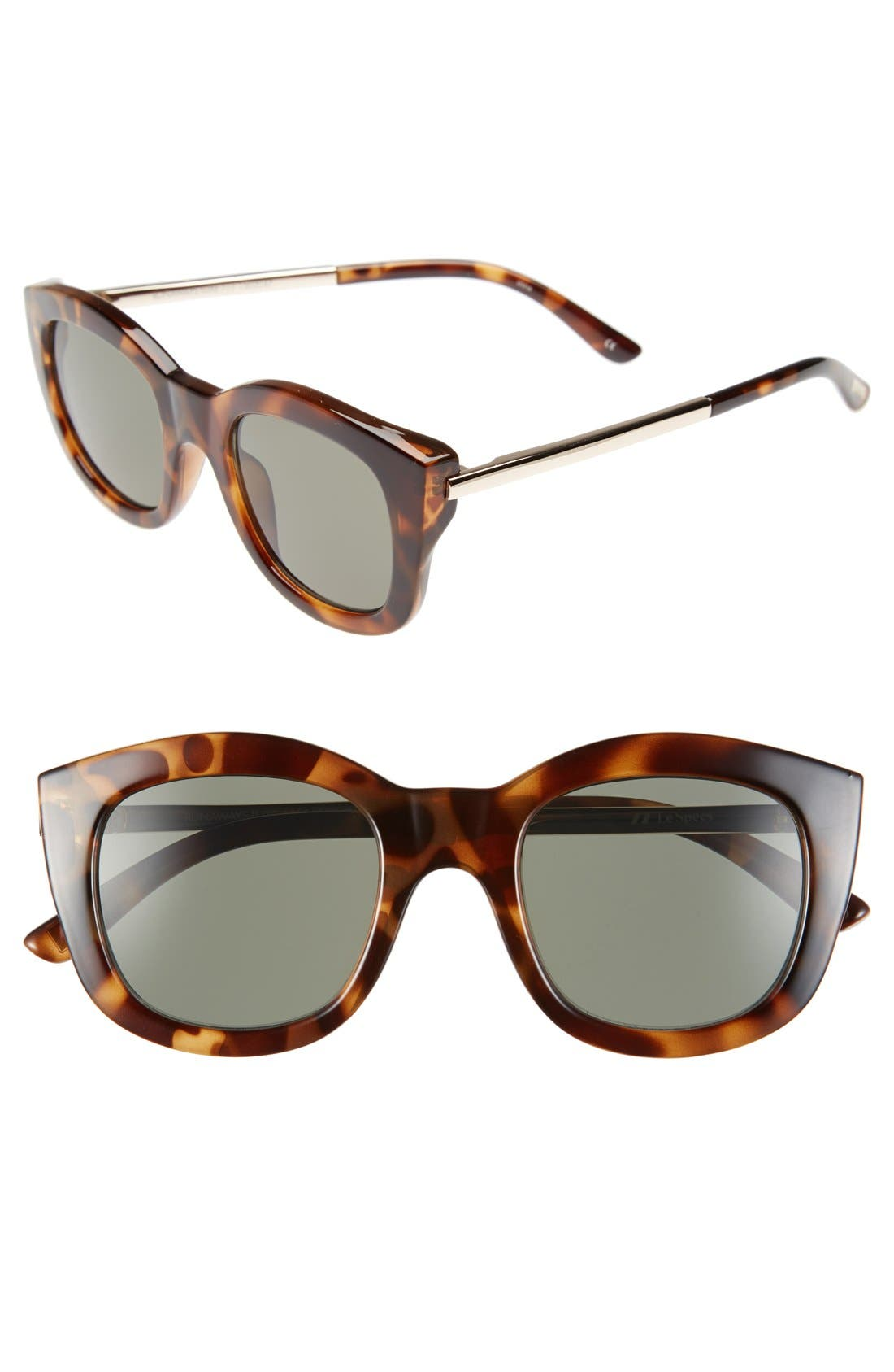 Alternate Image 1 Selected - Le Specs 'Runaways Luxe' 50mm Cat Eye Sunglasses