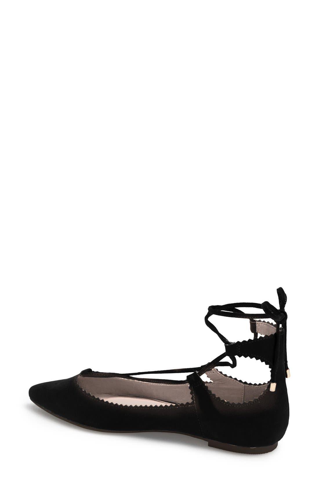 Alternate Image 2  - Topshop 'Finest Shillie' Lace-Up Pointy Toe Flat (Women)