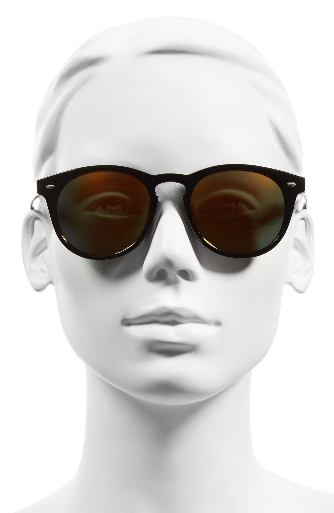 Alternate Image 2  - Sole Society 'Kate' 48mm Round Mirrored Sunglasses