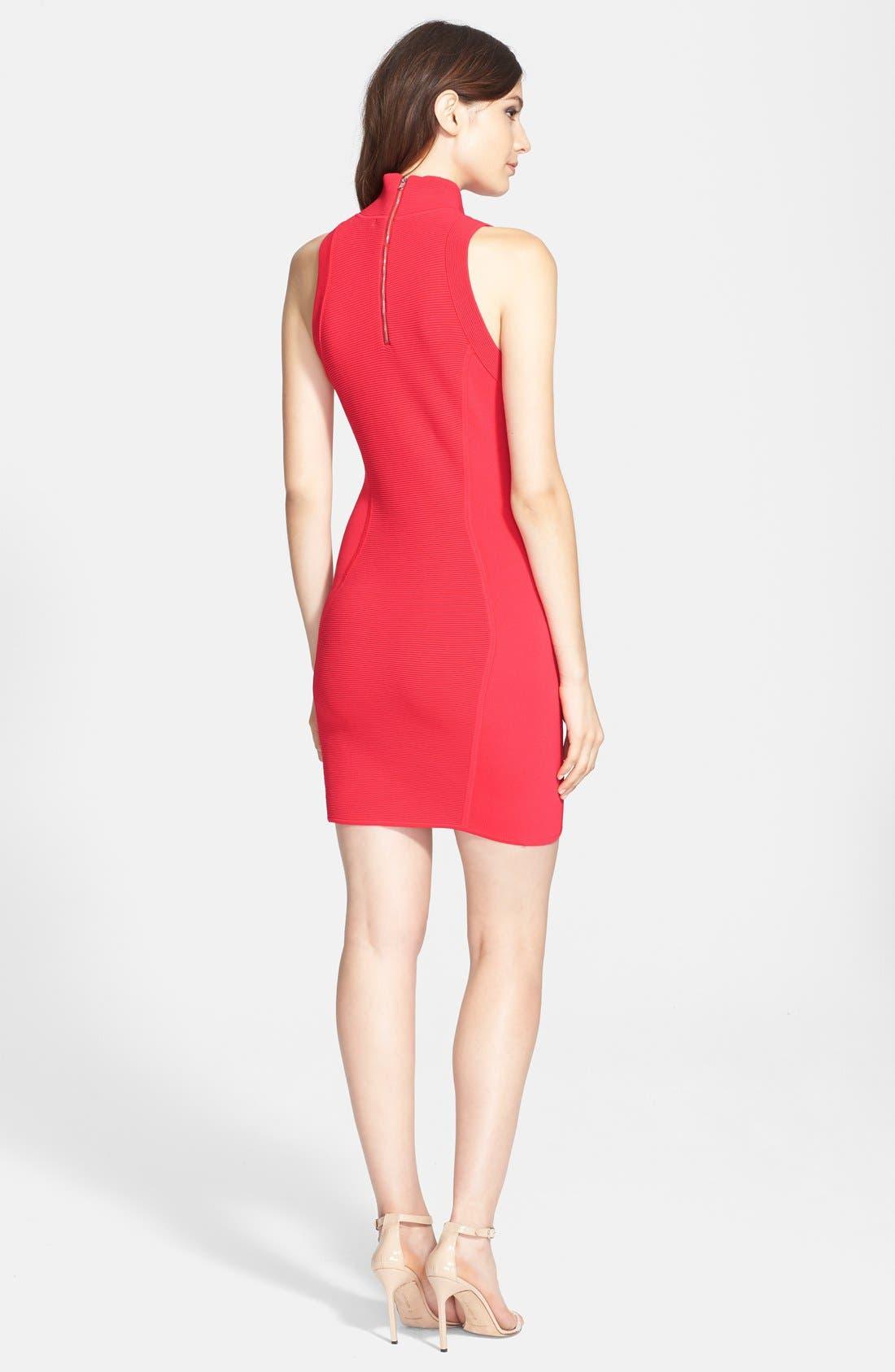 Alternate Image 2  - Parker 'Amy' Knit Turtleneck Body-Con Dress