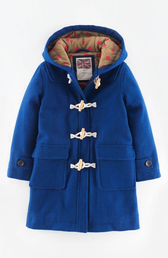 Mini Boden 'Funky' Hooded Duffle Coat (Toddler Girls, Little Girls ...