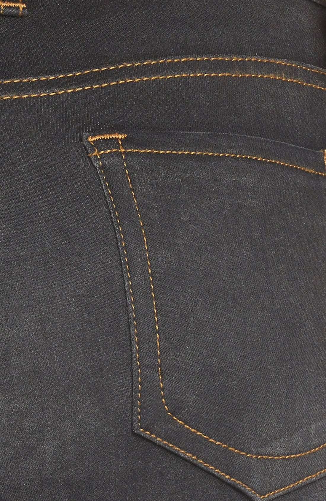 Alternate Image 3  - KUT from the Kloth 'Diana' Stretch Skinny Jeans (Black) (Regular & Petite)