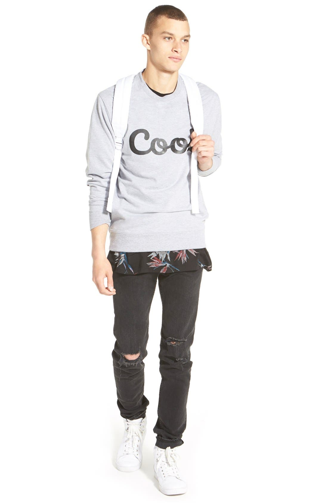 Alternate Image 7  - rag & bone Standard Issue 'Fit 1' Skinny Fit Jeans (Rock with Holes)