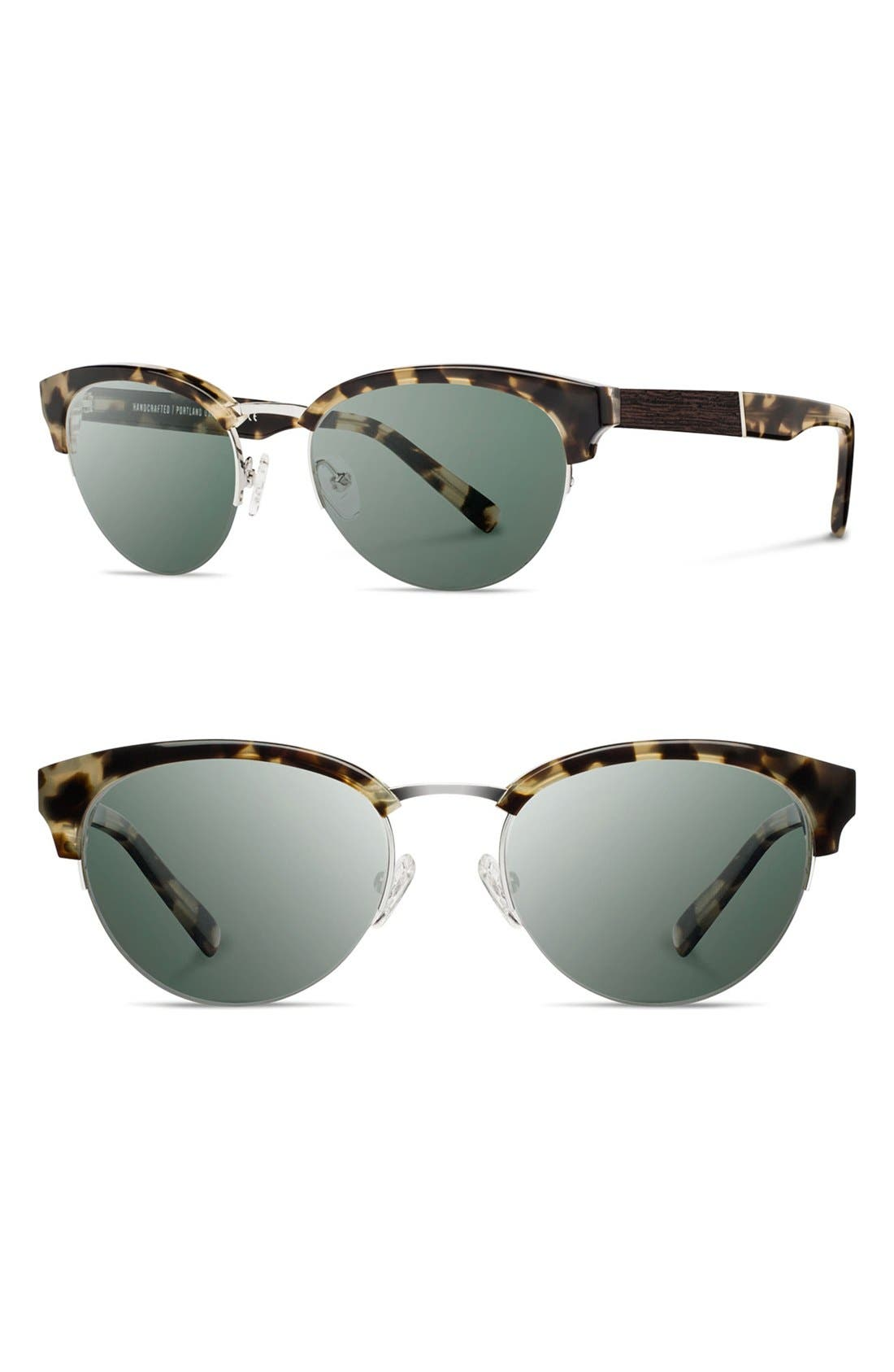 SHWOOD 'Hayden' 53mm Acetate & Wood Sunglasses