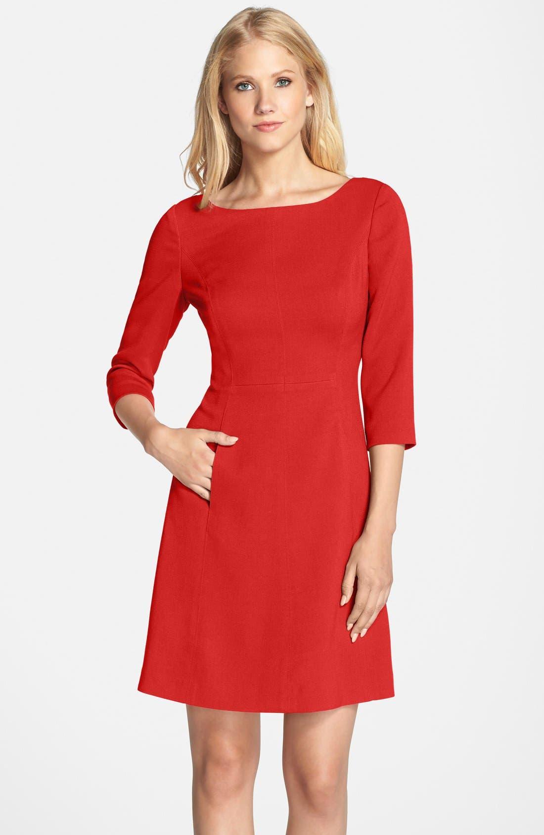 Main Image - Vince Camuto Crepe A-Line Dress (Regular & Petite)