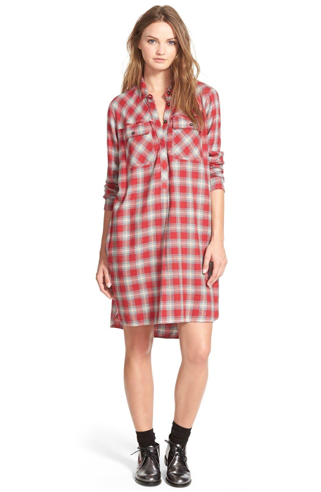 Alternate Image 1 Selected - MadewellPlaid Shirtdress