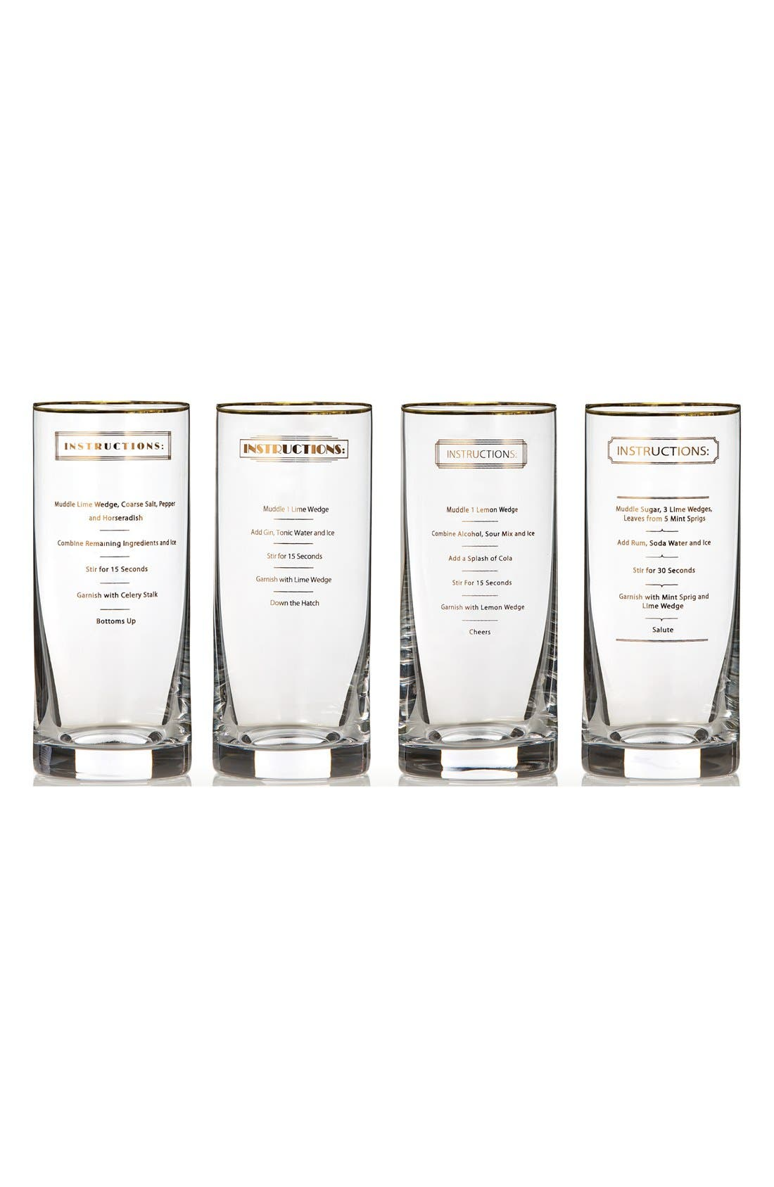 Main Image - Marquis by Waterford 'Recipe' Highball Glasses (Set of 4)