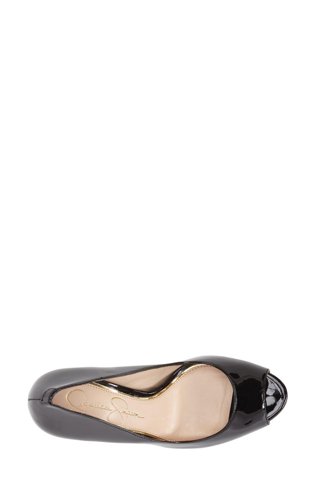 Alternate Image 3  - Jessica Simpson 'Kelia' Peep Toe Pump (Women)