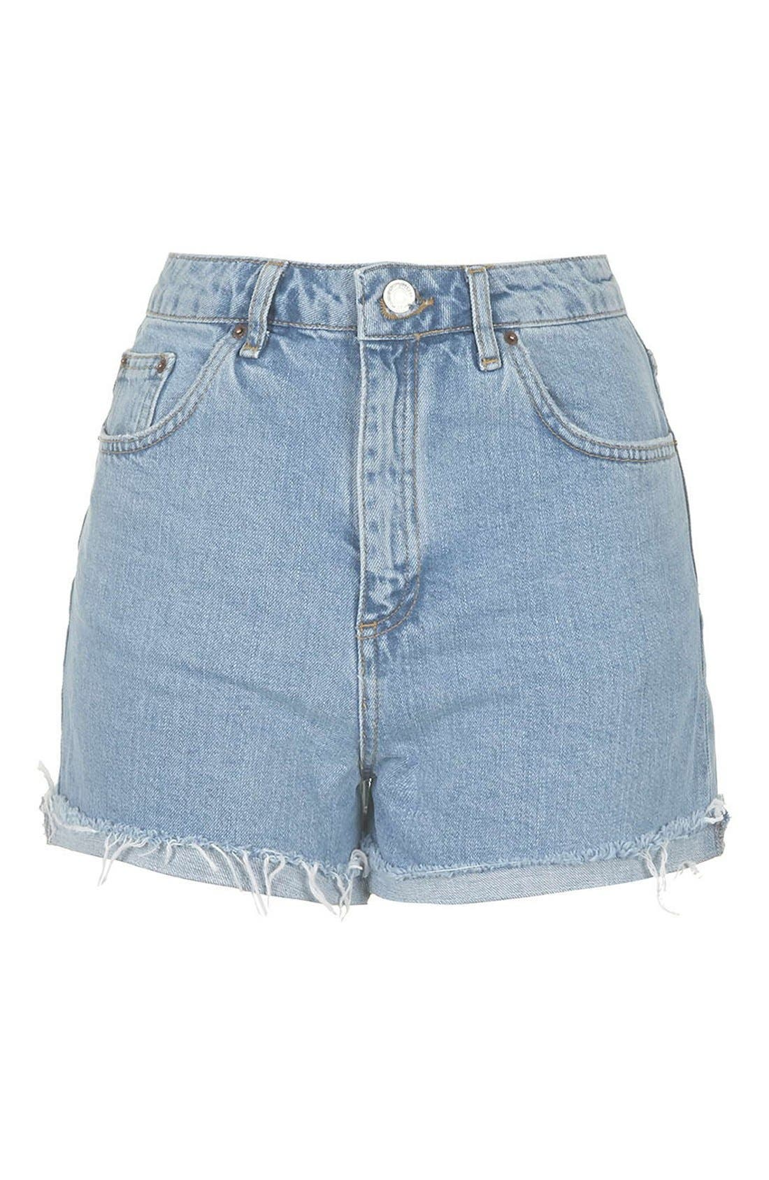 Alternate Image 4  - Topshop 'Girlfriend' Denim Shorts