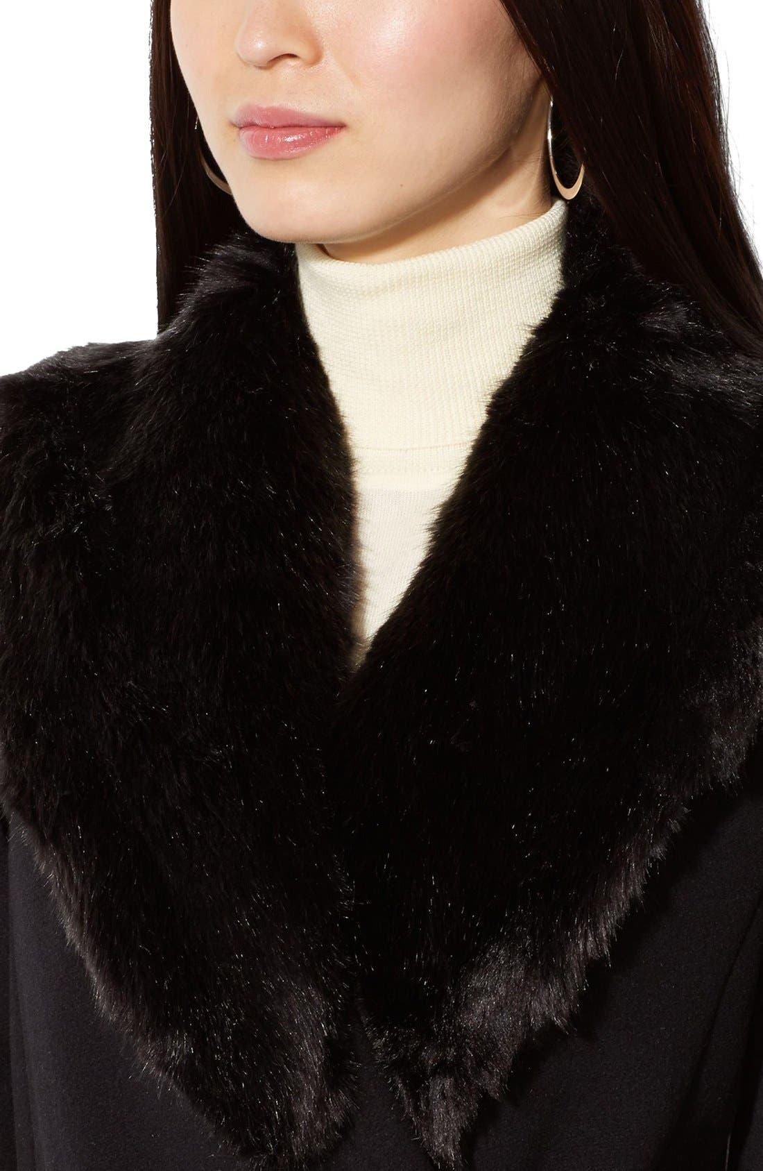 Alternate Image 3  - Lauren Ralph Lauren FauxFur Collar Long Wool Blend Wrap Coat
