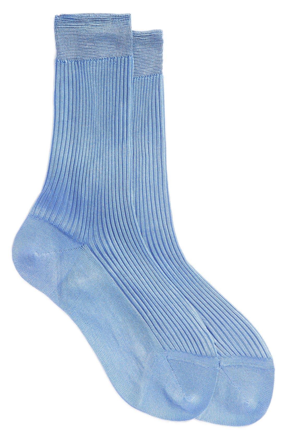 Main Image - Maria la Rosa Silk Trouser Socks