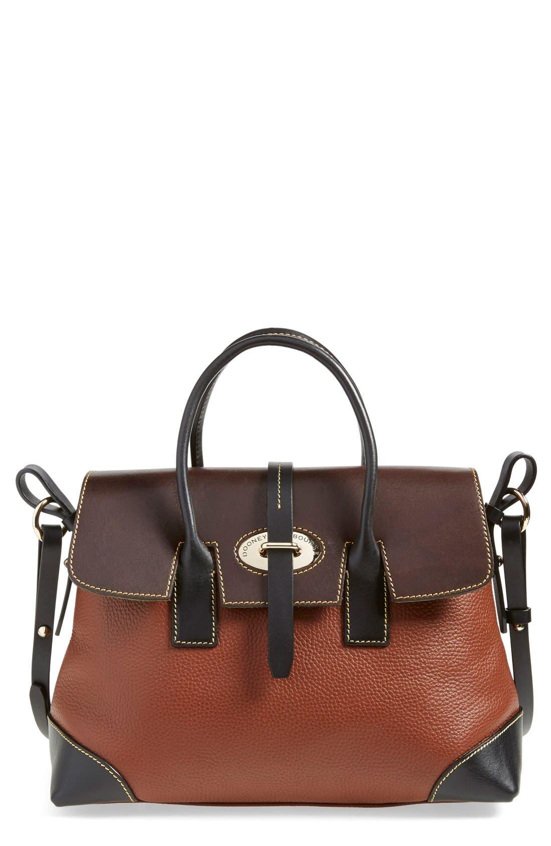 Alternate Image 1 Selected - Dooney & Bourke 'Verona Large Elisa' Grained Leather Satchel
