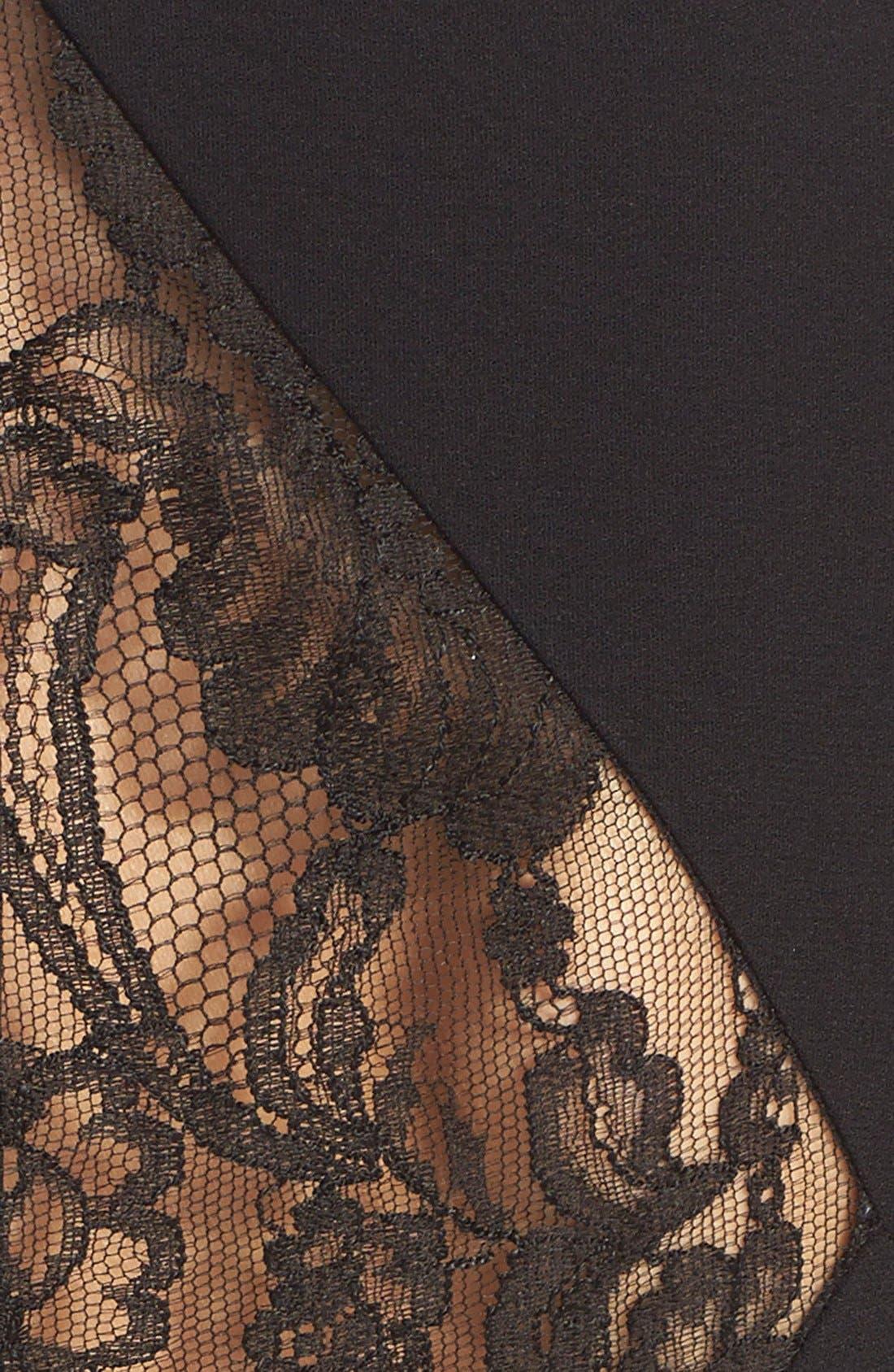 Alternate Image 3  - Alice+Olivia'Kiara'FeatherSkirt Fit & Flare Dress