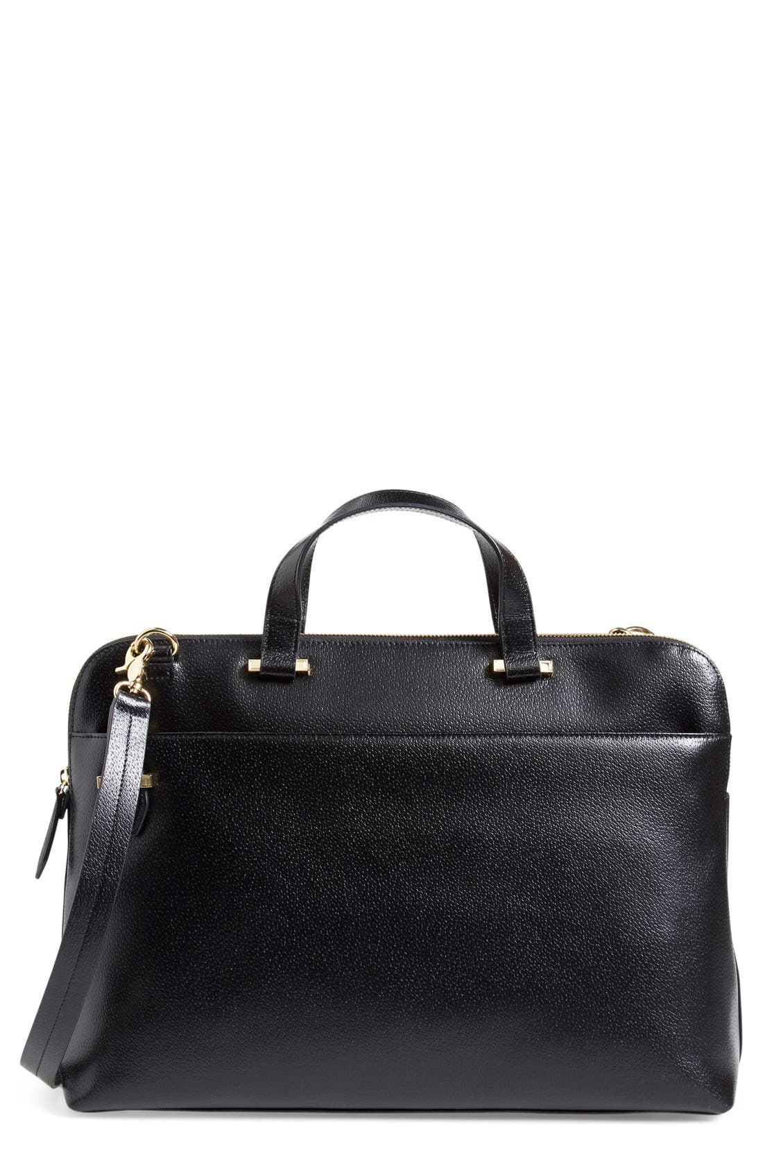 LODIS Medium Jamie RFID Leather Briefcase