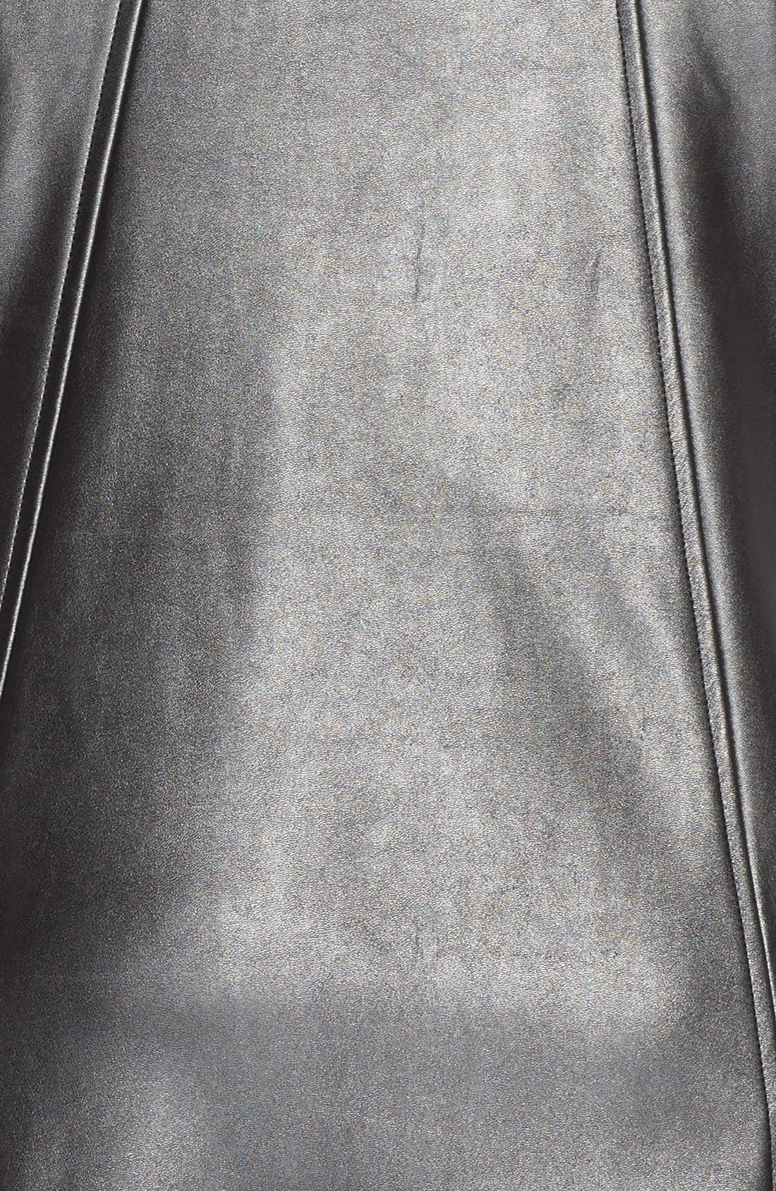 Alternate Image 3  - Gabby Skye FauxLeather Trapeze Dress (Plus Size)