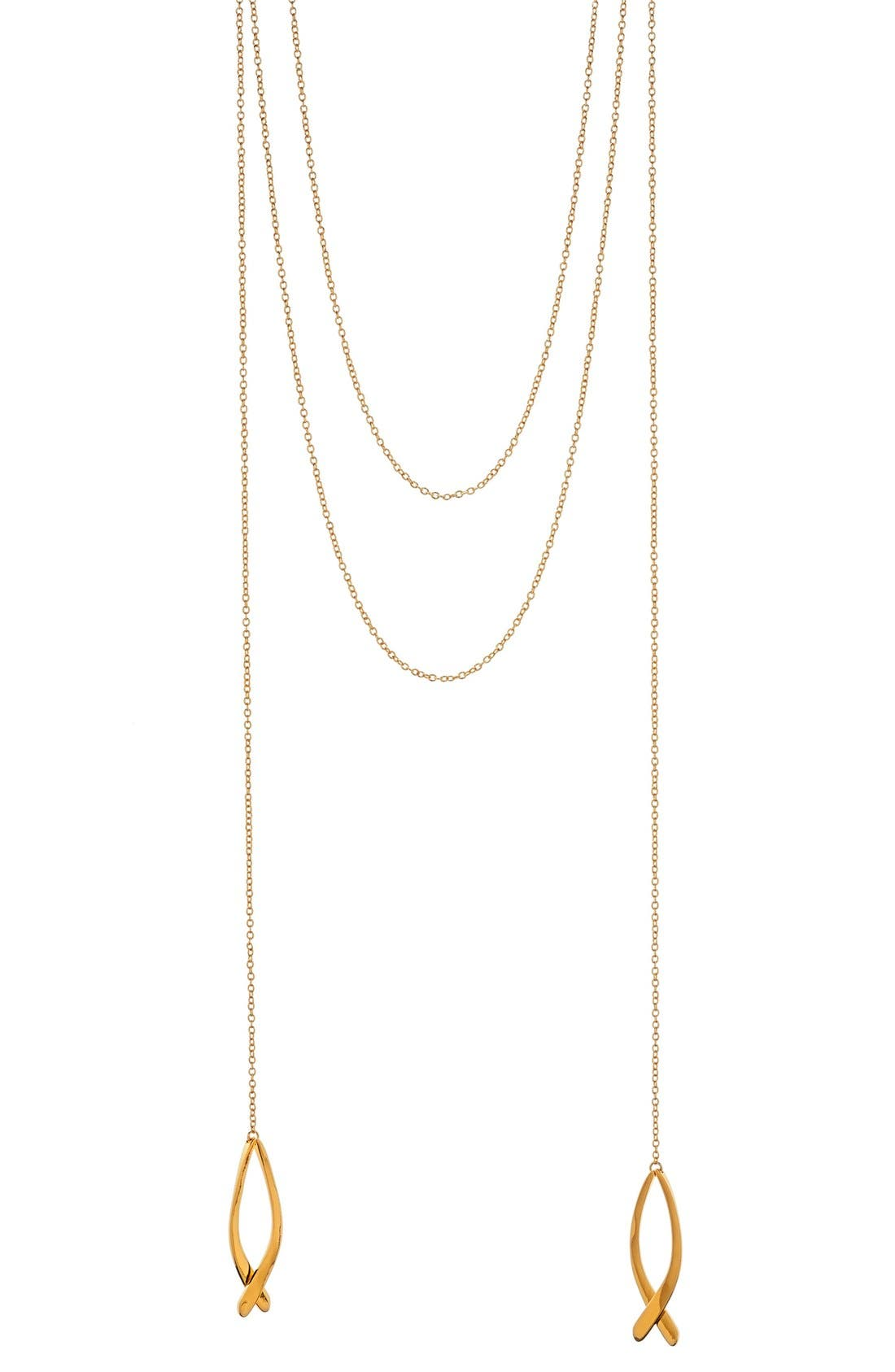 Alternate Image 1 Selected - gorjana'Viola' Layered Pendant Necklace