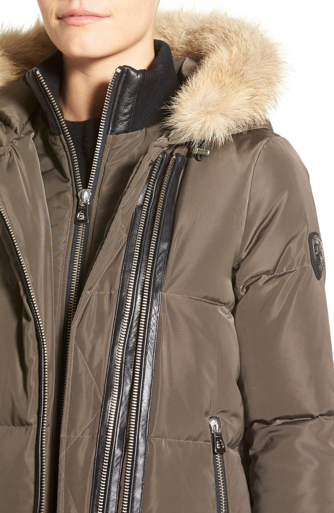 Alternate Image 3  - Rudsak 'Cally' Leather & Genuine Coyote Fur Trim Down Coat