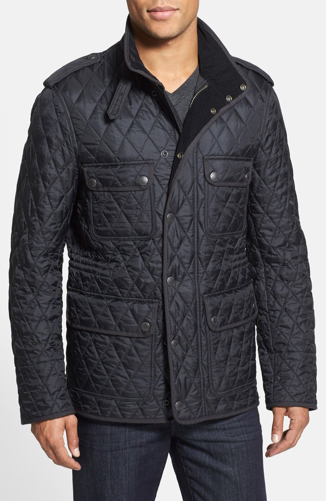 Main Image - Burberry Brit 'Russell' Quilted Field Jacket