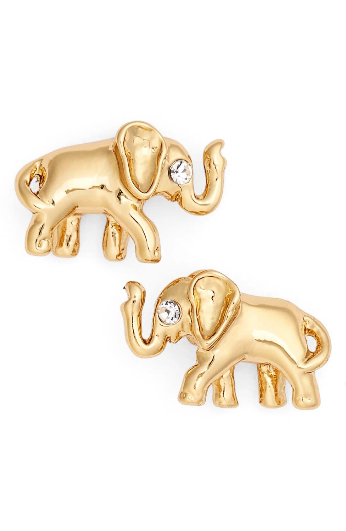 Alternate Image 1 Selected - katespade new yorkelephant stud earrings
