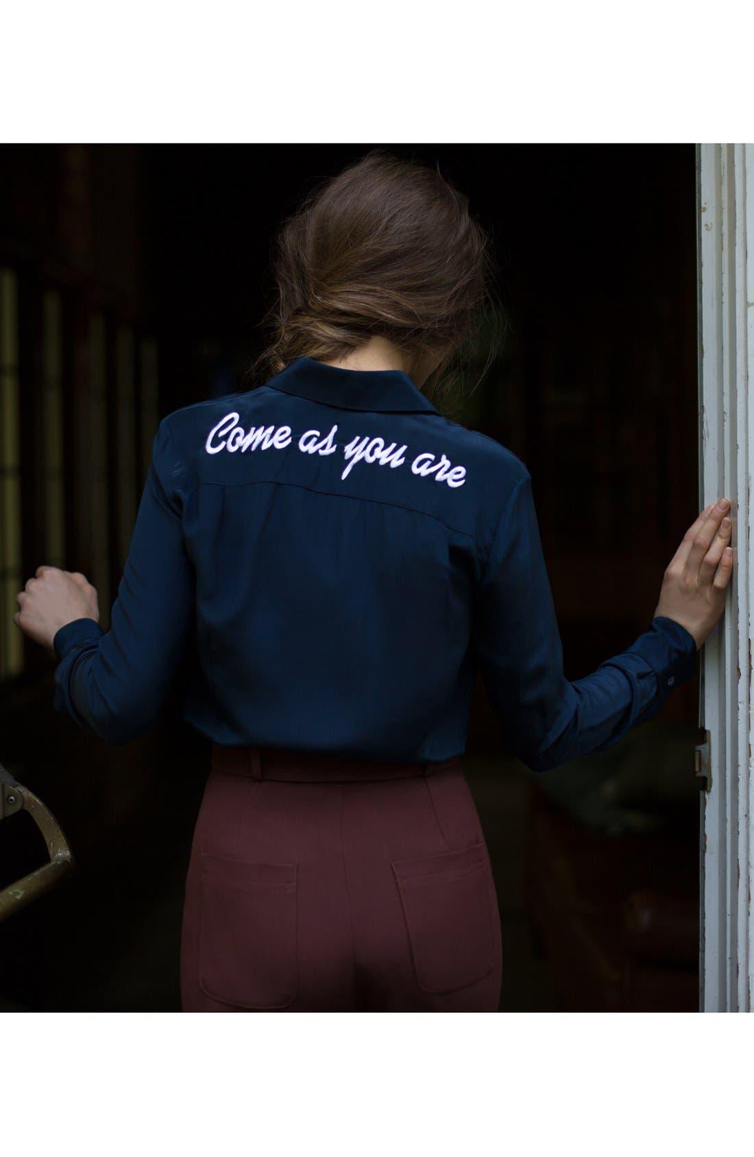 Alternate Image 3  - DRESSHIRT'Come As You Are' Silk Shirt (Women)
