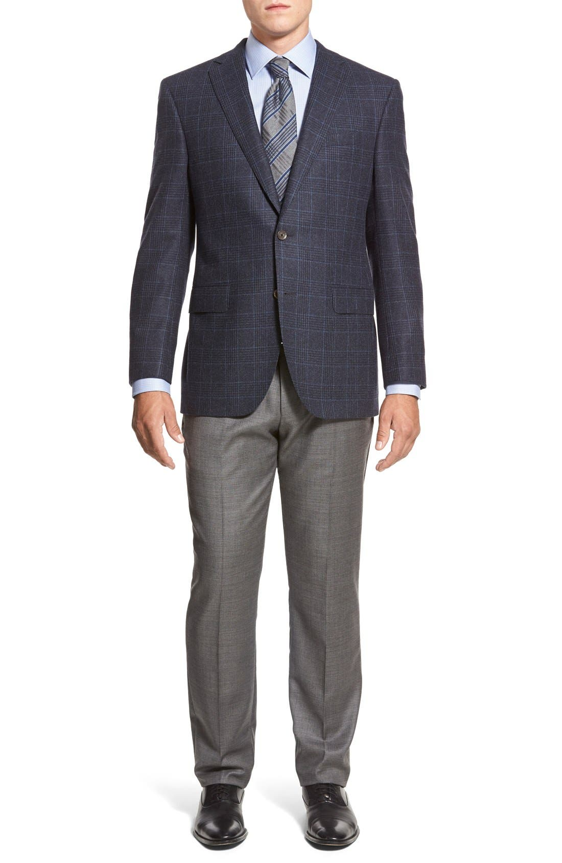 Alternate Image 5  - BOSS HUGO BOSS 'Sharp' Flat Front Wool Trousers