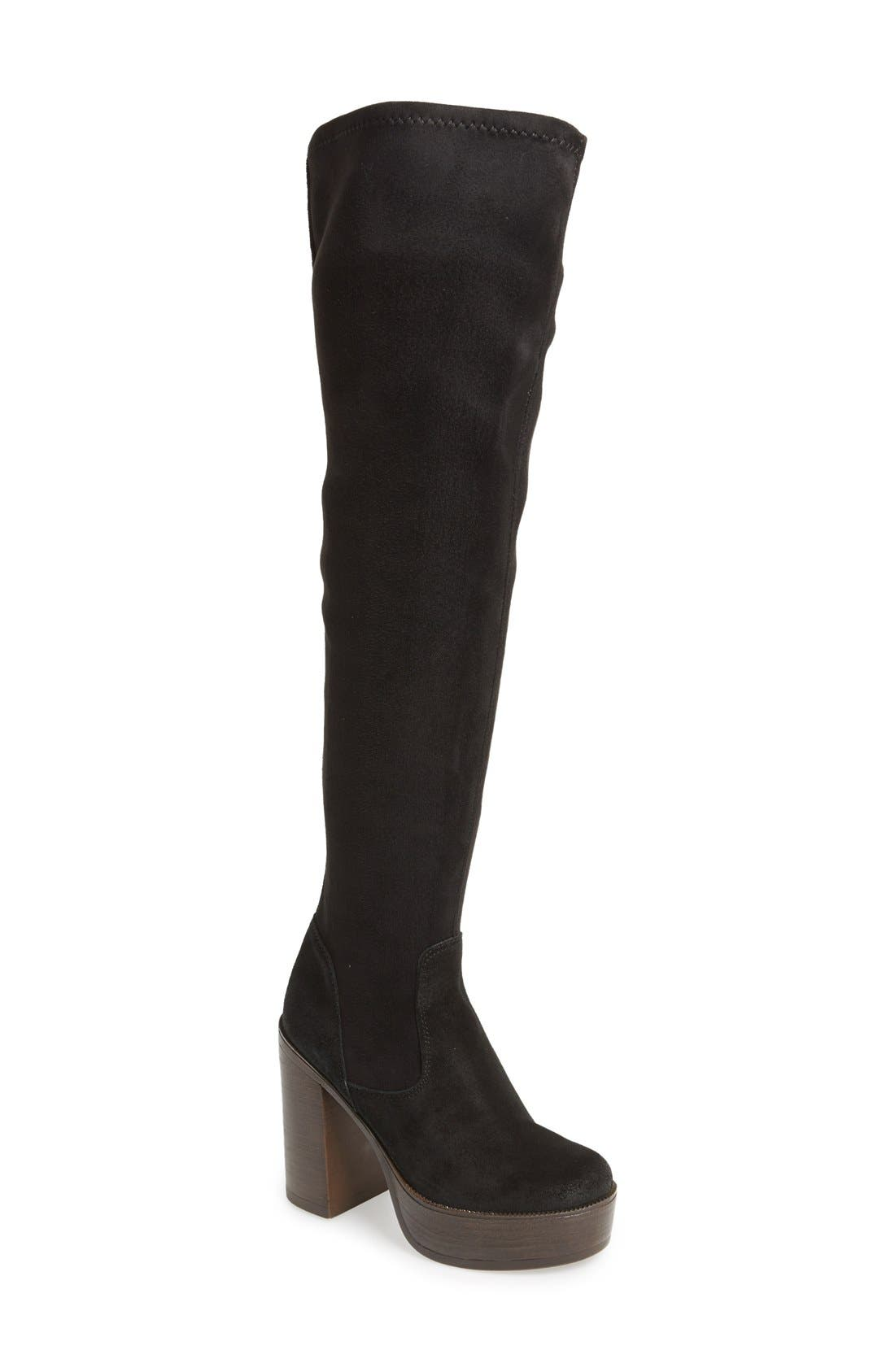 Alternate Image 1 Selected - Topshop 'Buddy '70s' Over the Knee Boot (Women)