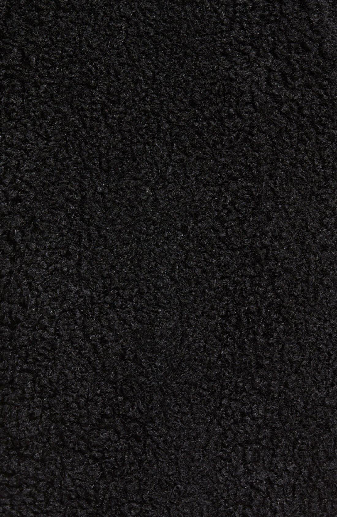 Alternate Image 5  - kensie 'Teddy Bear' Notch Collar Faux Fur Coat (Online Only)