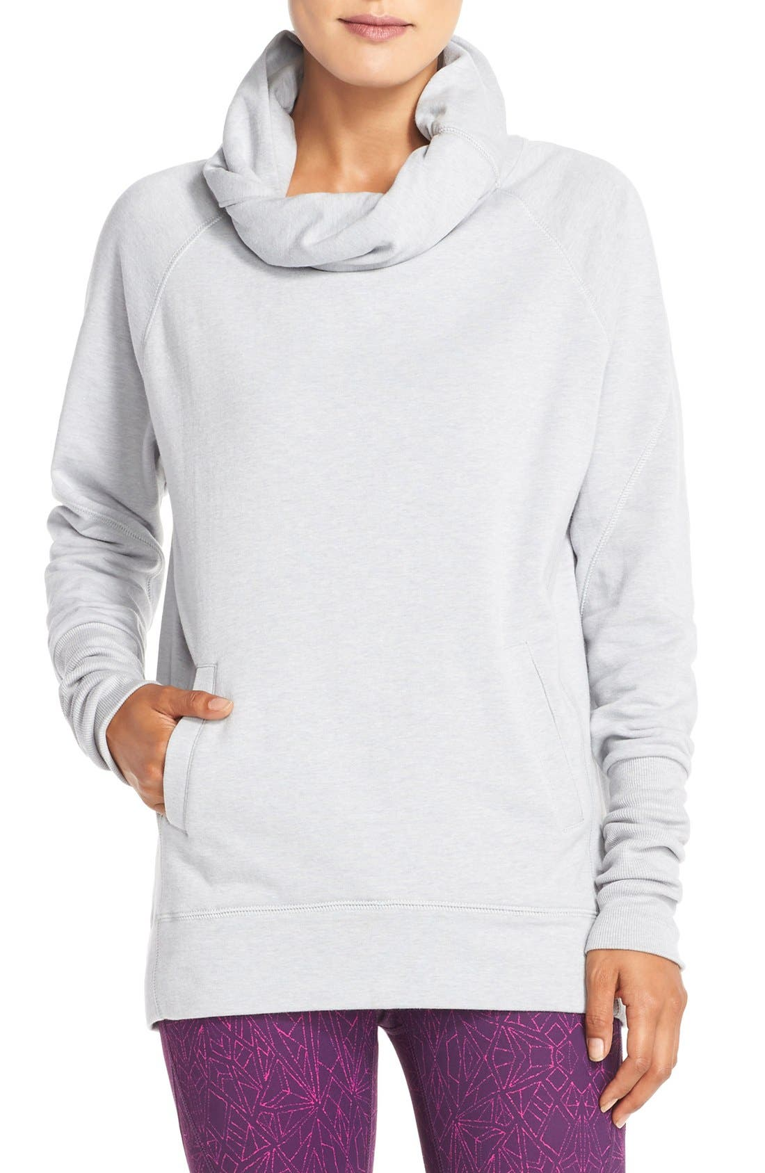 Alternate Image 1 Selected - Zella 'Inner Peace' Cotton Blend Pullover