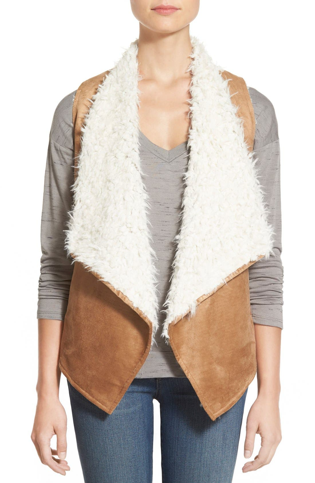 Alternate Image 1 Selected - Love Fate Destiny Faux Shearling Vest