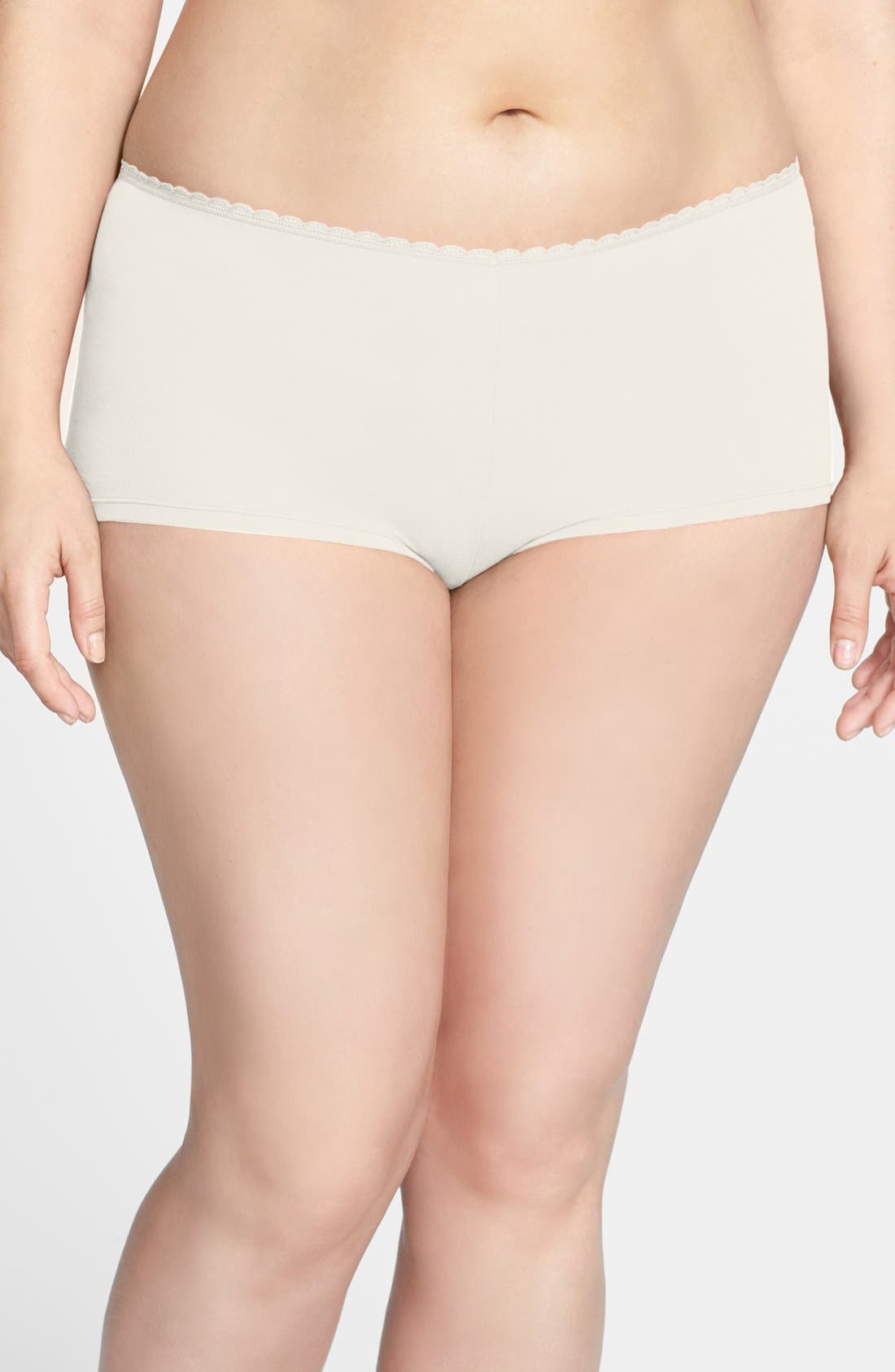 Main Image - Nordstrom Cotton Blend Boyshorts (Plus Size) (3 for $25)