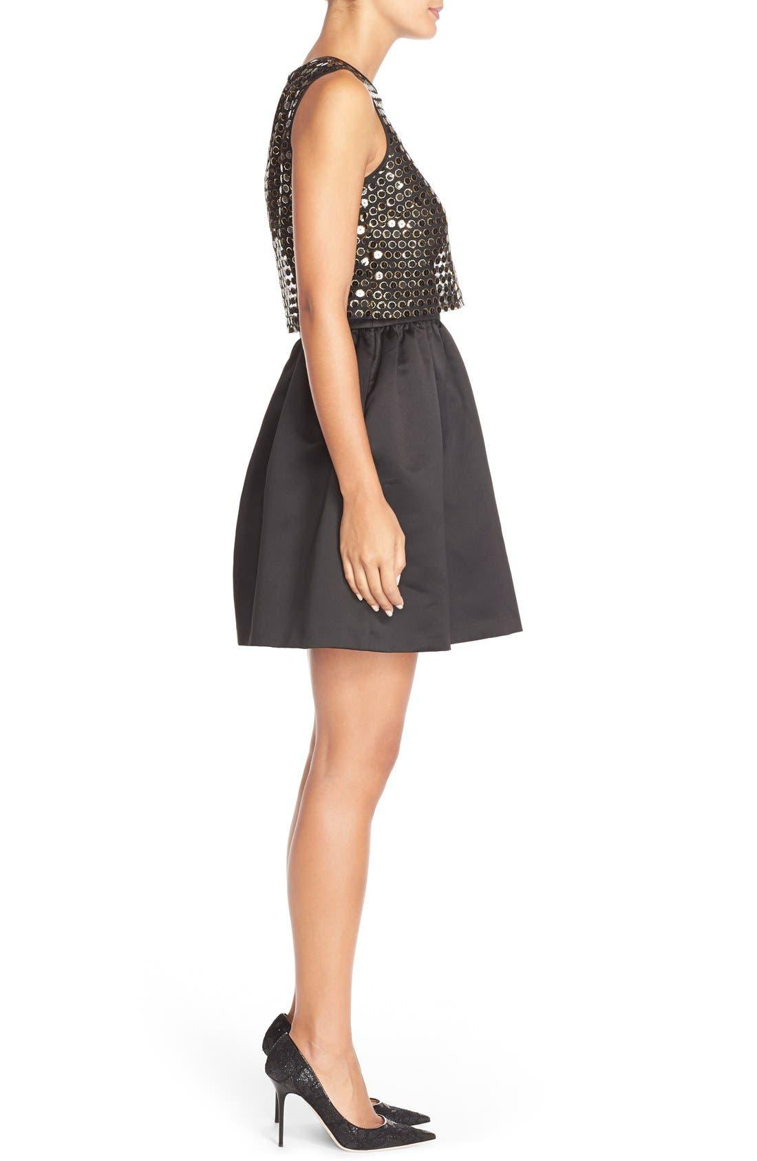 Alternate Image 3  - CeCe by Cynthia Steffe 'Sandy' Sequin Popover Dress
