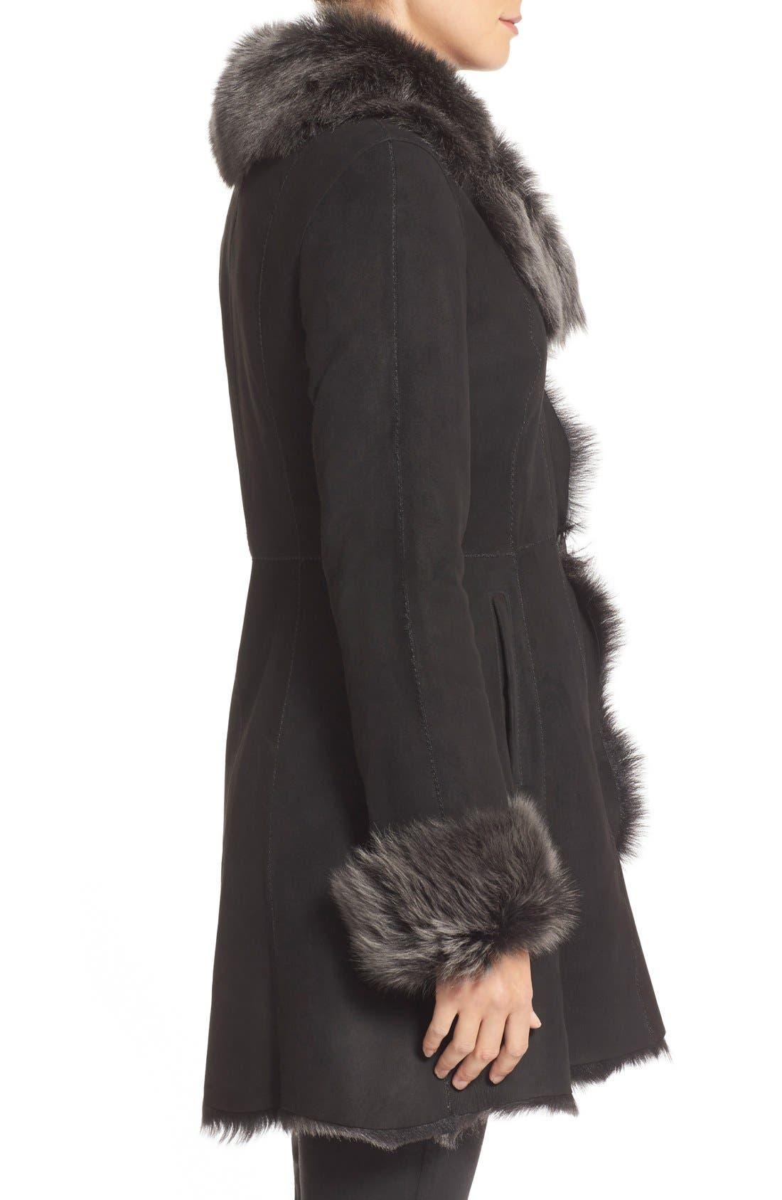 Alternate Image 4  - HiSO Genuine Toscana Shearling Coat