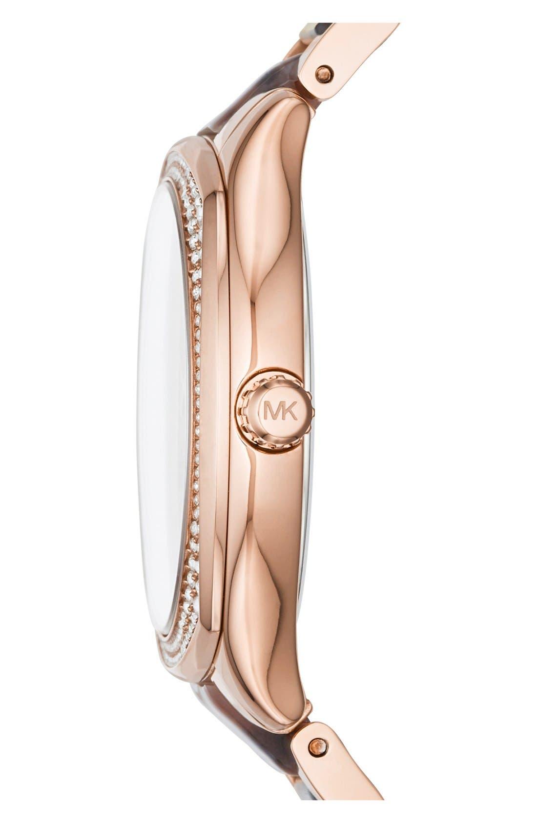 Alternate Image 2  - Michael Kors 'Bryn' Crystal Bezel Bracelet Watch, 40mm