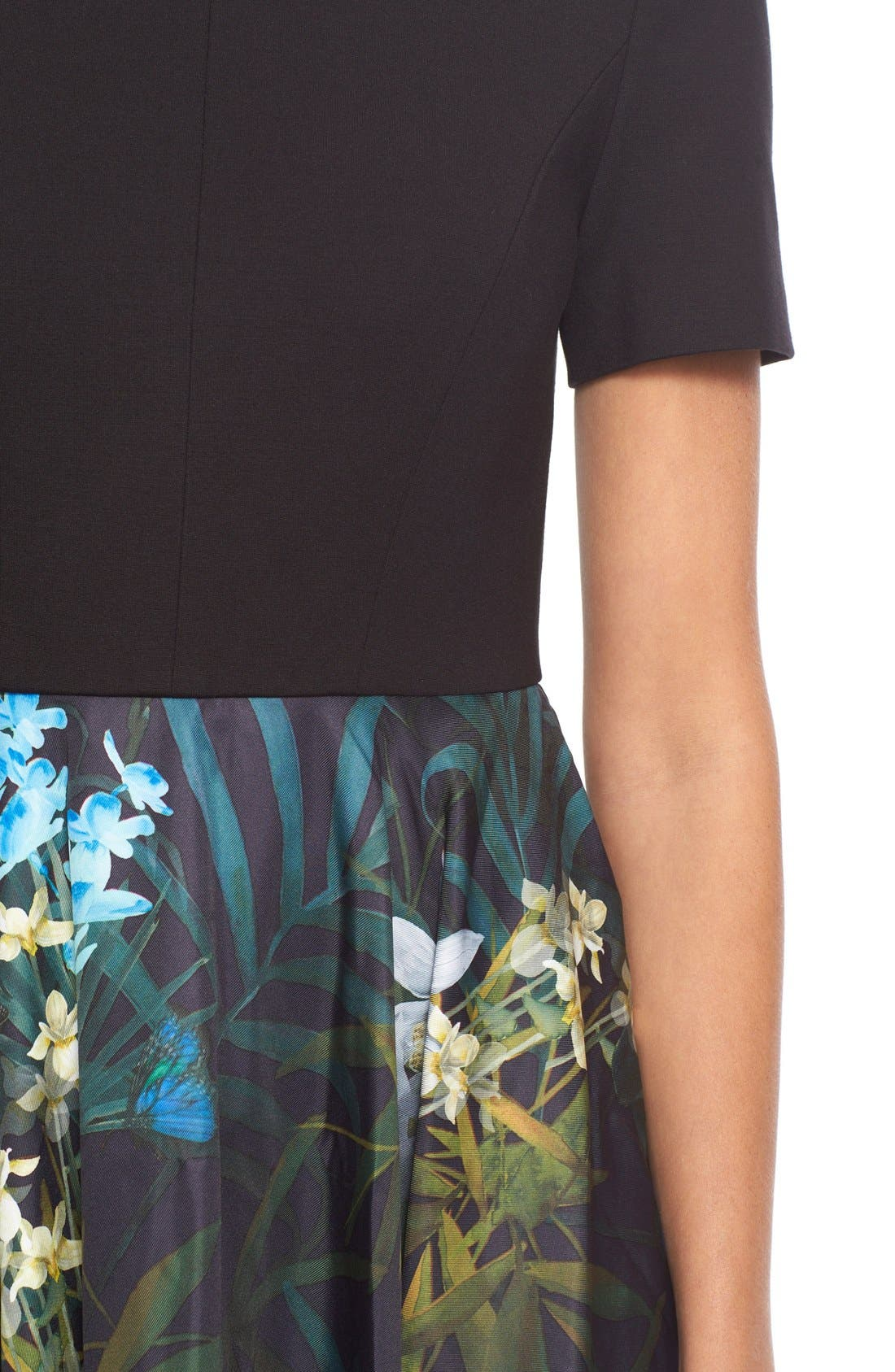 Alternate Image 4  - Ted Baker London 'Caprine' Twilight Floral Contrast Dress