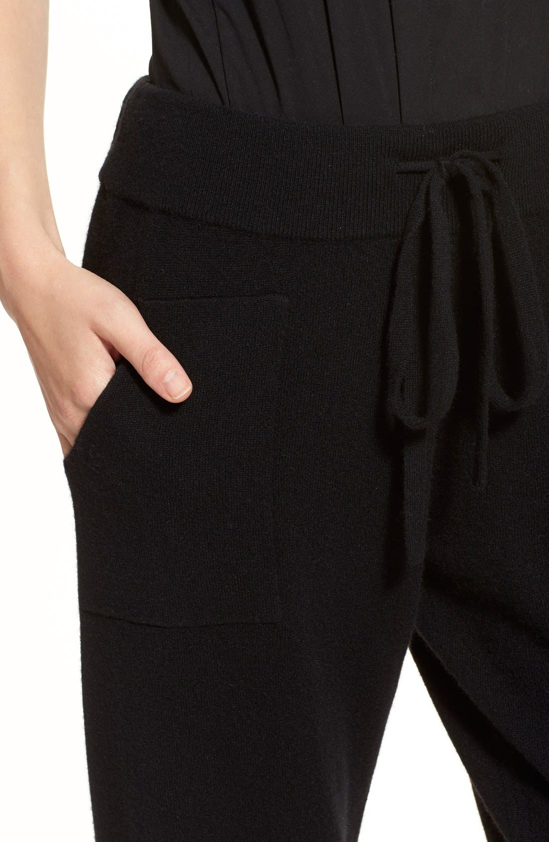 Alternate Image 6  - Donna Karan Collection Midweight Rib Jogger Pants