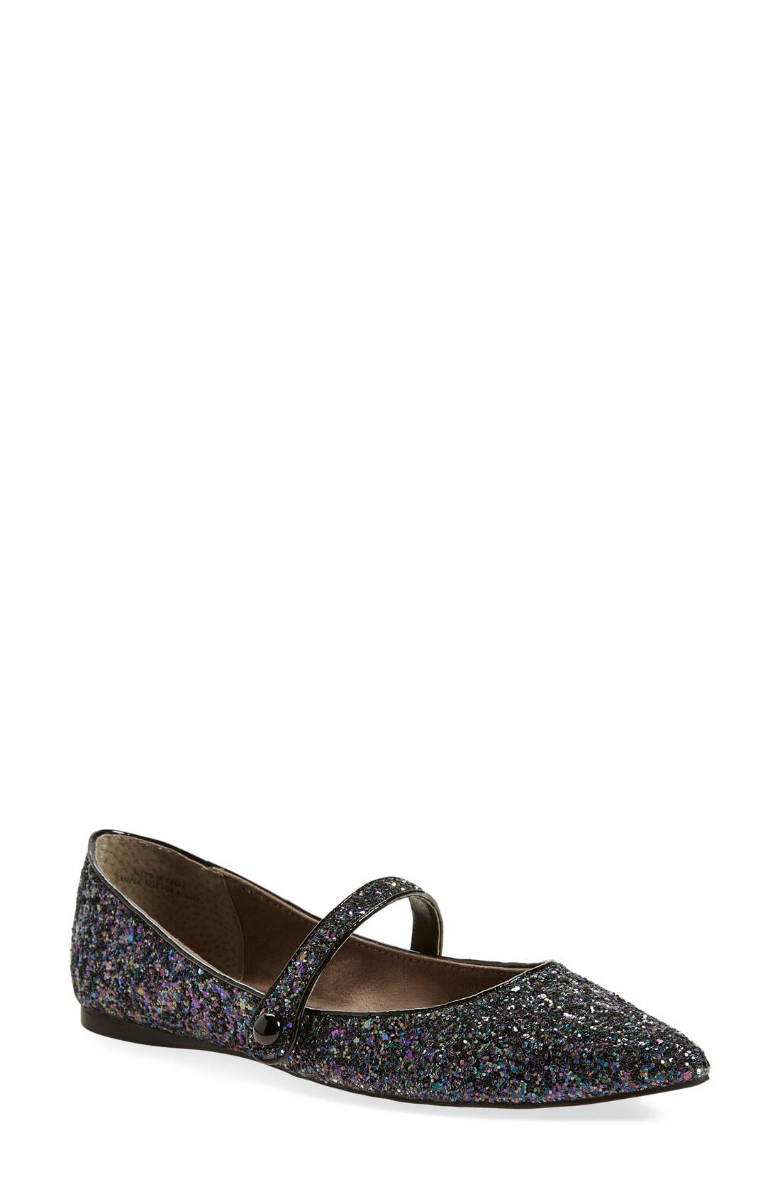 Alternate Image 1 Selected - BP. 'Maribel' Mary Jane Glitter Flat (Women)