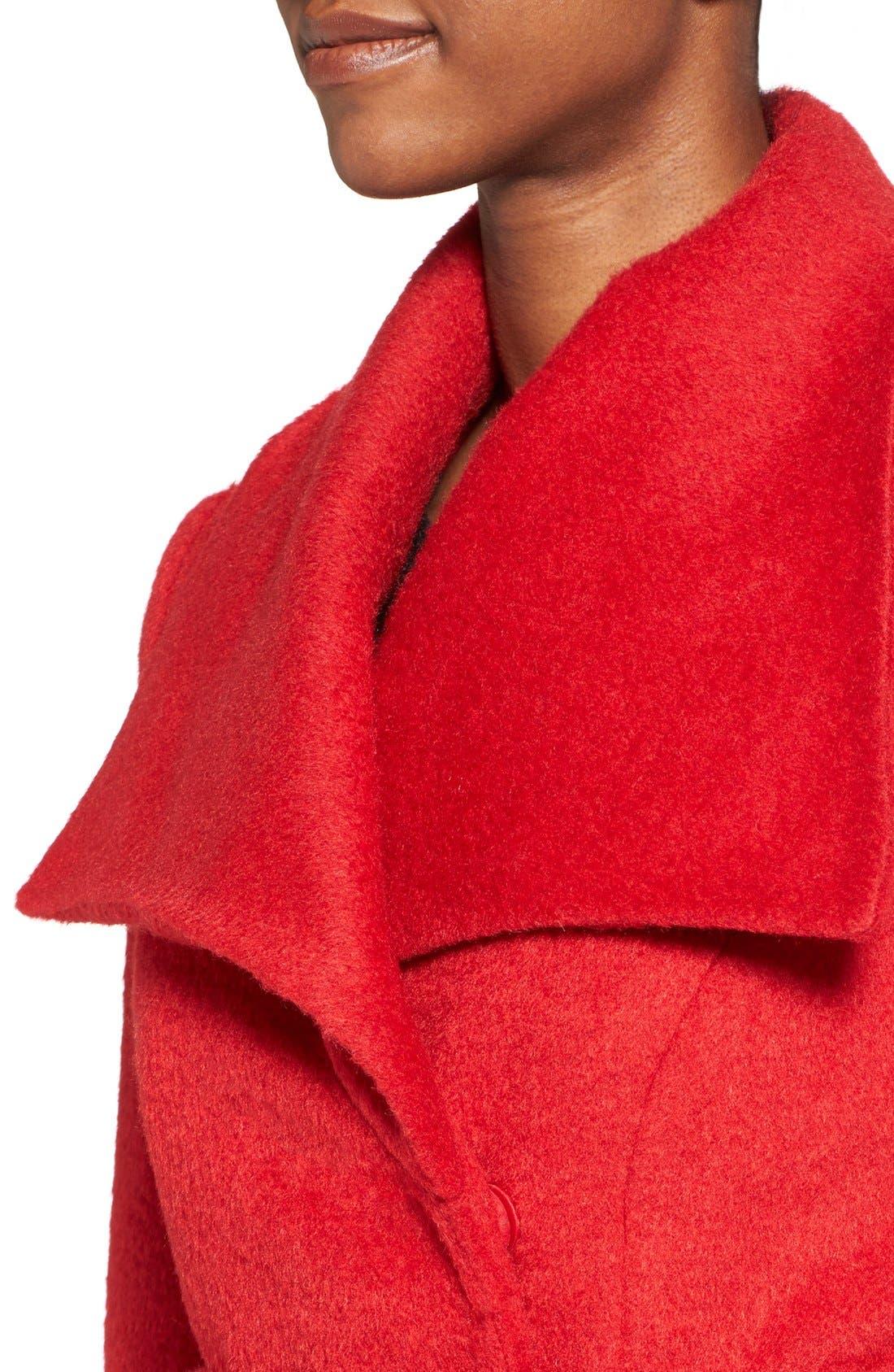 Alternate Image 4  - T Tahari 'Mia' Brushed Wool Blend Wrap Coat