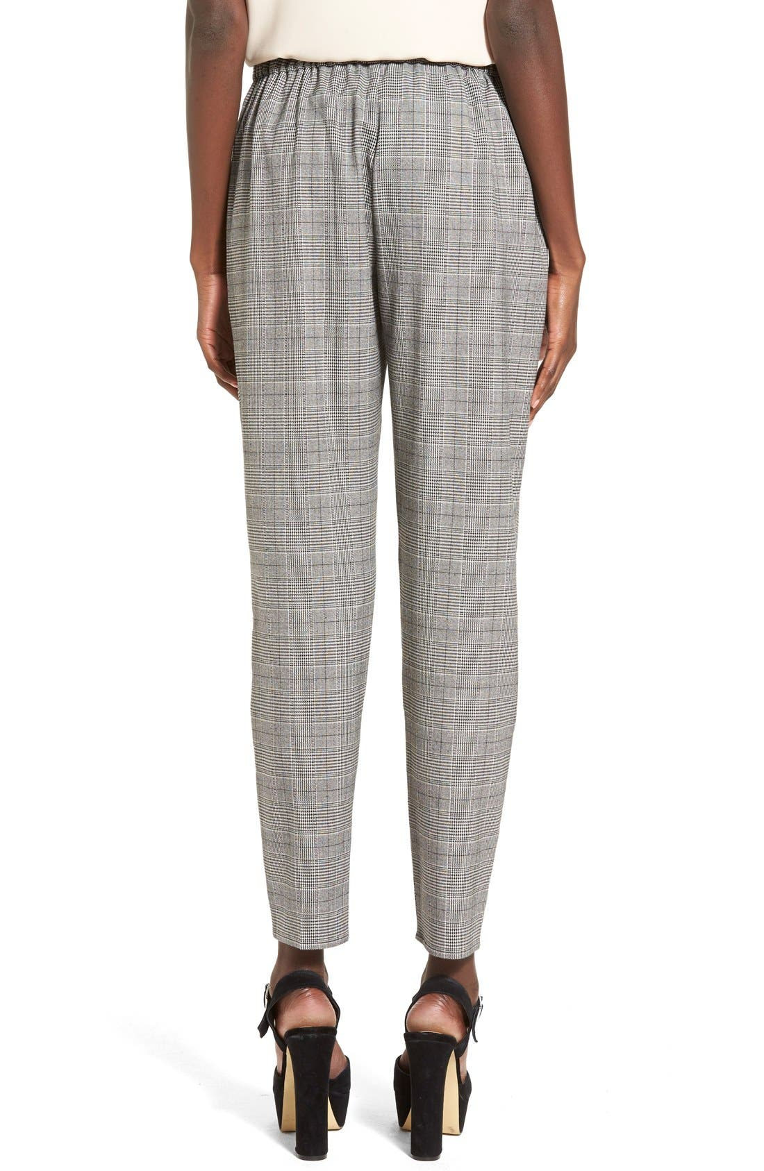 Alternate Image 2  - Leith Pleat Front Glen Plaid Pants