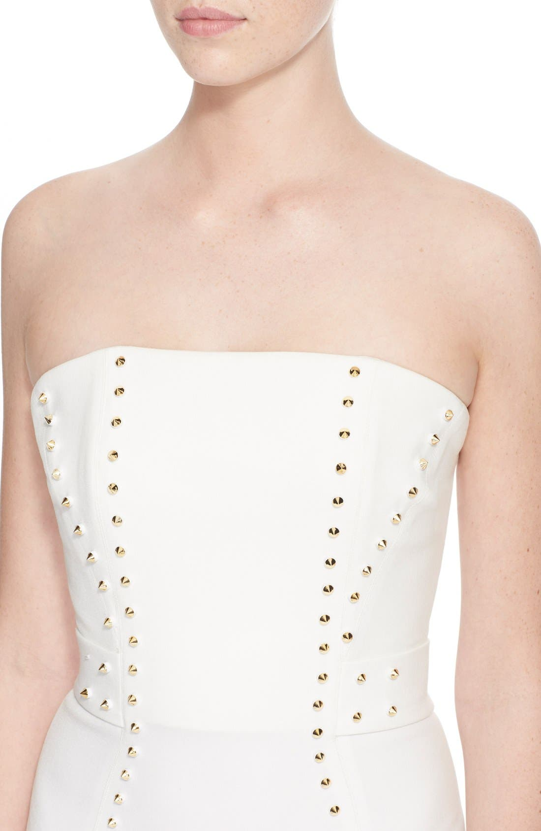 Alternate Image 6  - Versace Collection Studded Strapless Sheath Dress