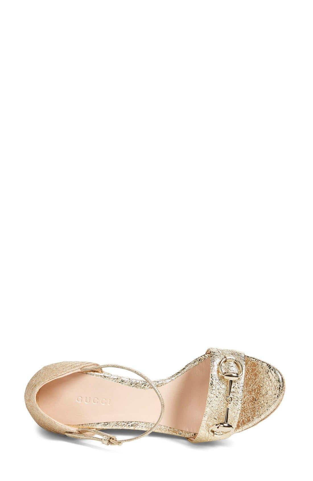 Alternate Image 3  - Gucci 'Carolina' Wedge Sandal (Women)