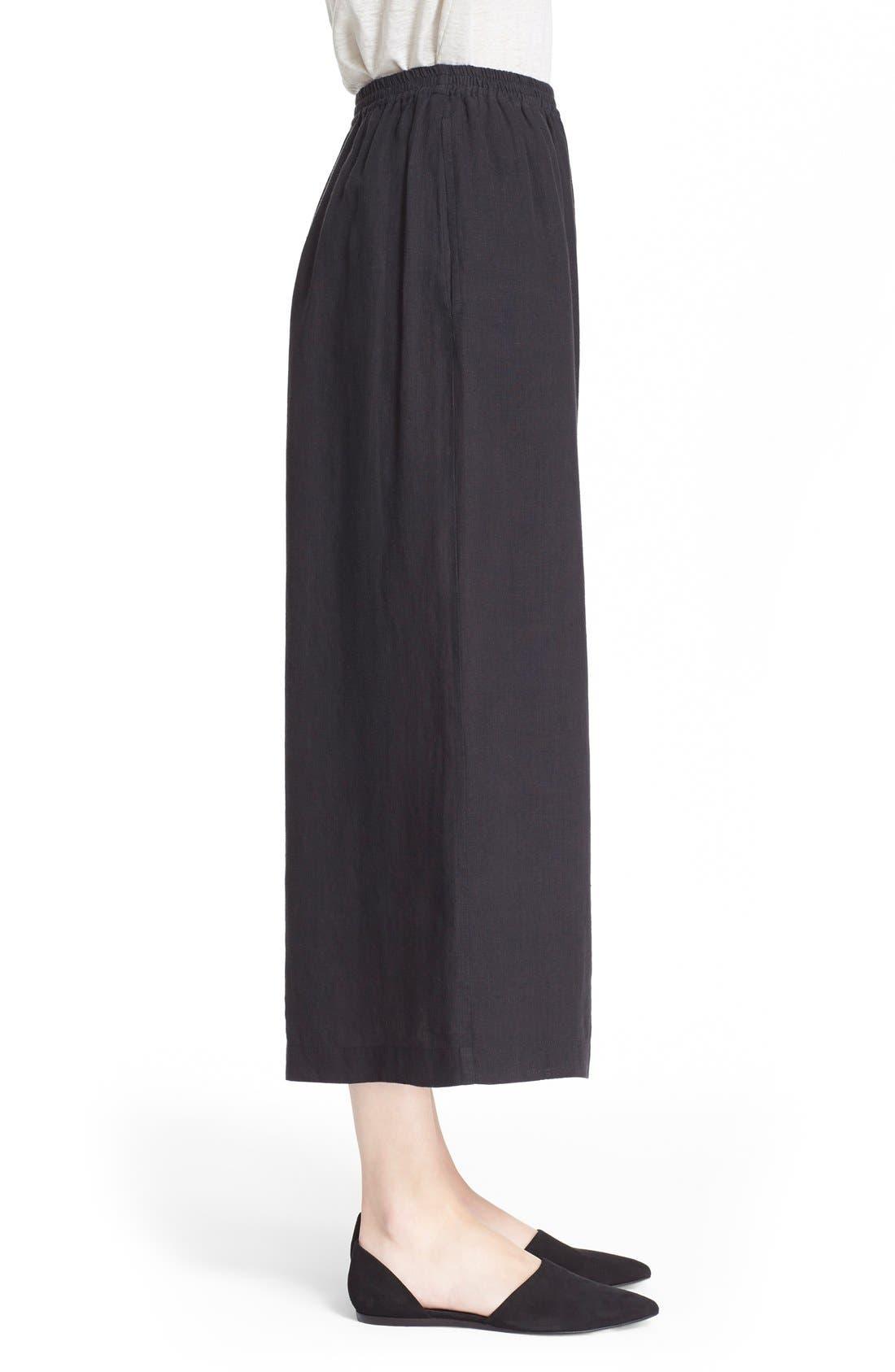 Alternate Image 5  - eskandarHandkerchief Linen Flare Crop Pants