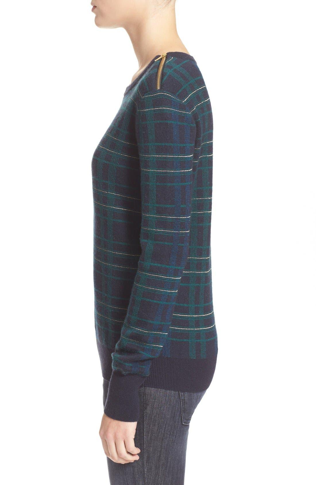 Alternate Image 4  - Equipment 'Ondine' Plaid Wool Pullover