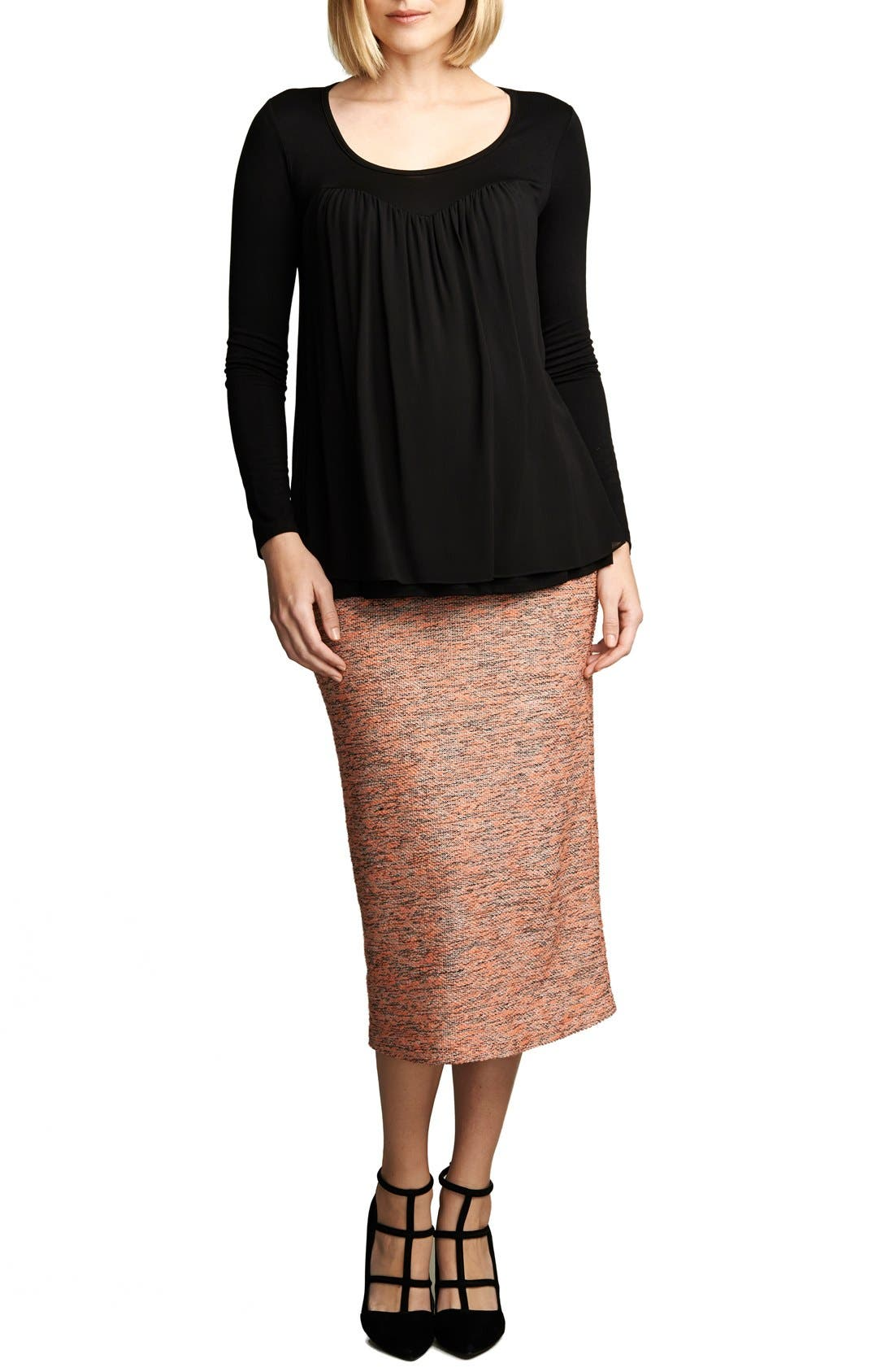 MATERNAL AMERICA Belly Support MaternityPencil Skirt